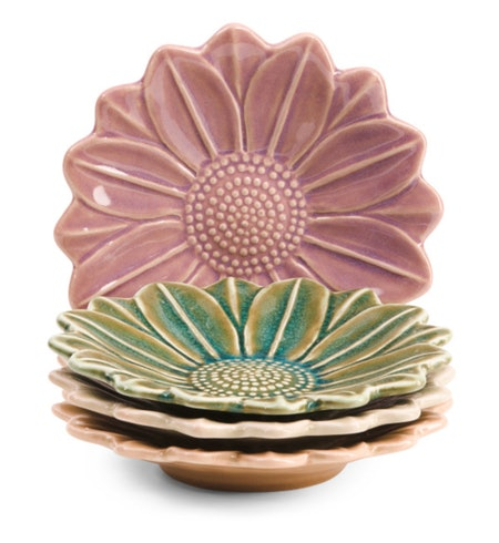 Flower Appetizer Plate 4-Pack
