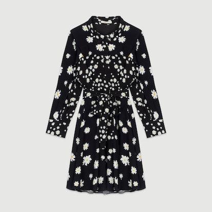 Dress with Mixed Daisy Print