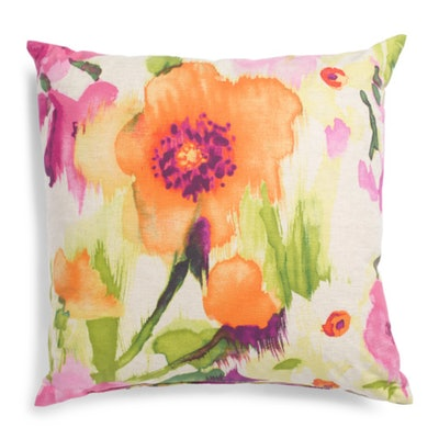 Oversized Floral Pillow