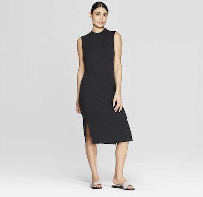 Sleeveless Scoop Neck Midi Bodycon Dress