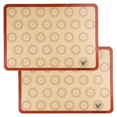 Velesco Silicone Macaron Baking Mat (2 Pack)