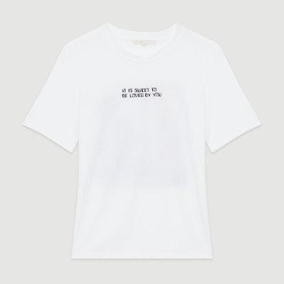 Tee-Shirt with Slogan and Print