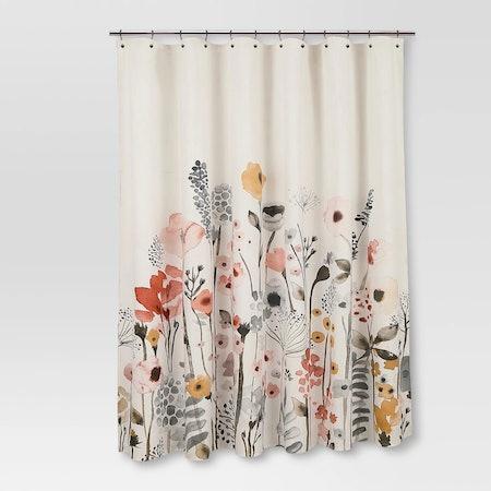 Floral Wave Shower Curtain