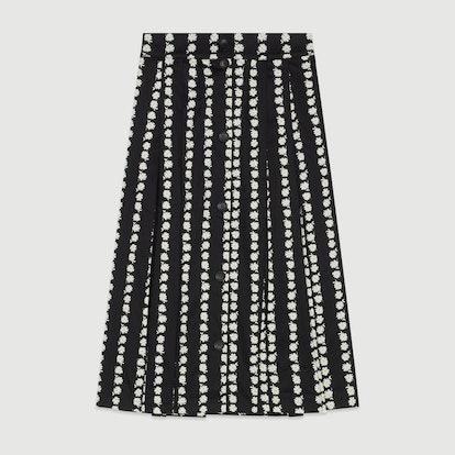 Long Skirt with Daisy Print