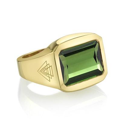 Green Tourmaline Creation Ring