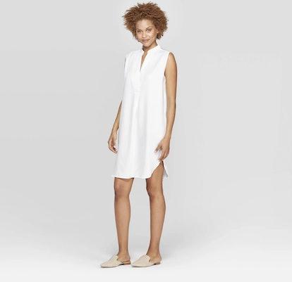 Sleeveless Deep V-Neck Tunic Dress