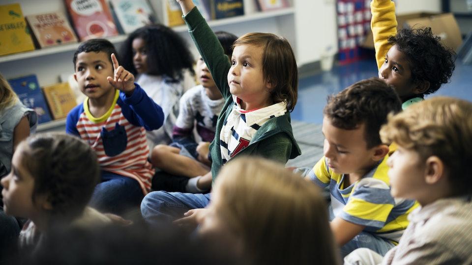 kids in kindergarten