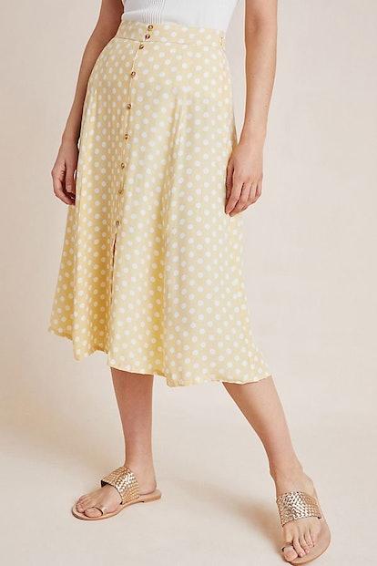 Marais Button-Front Skirt