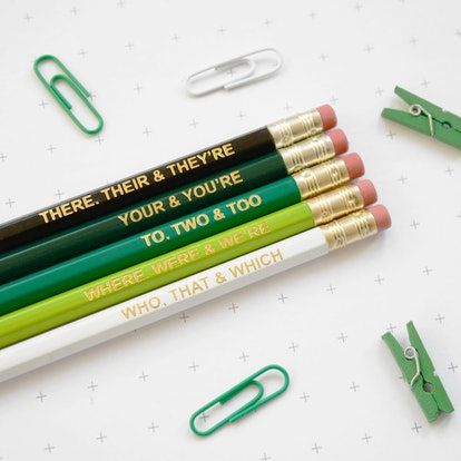 Green Grammar Pencils