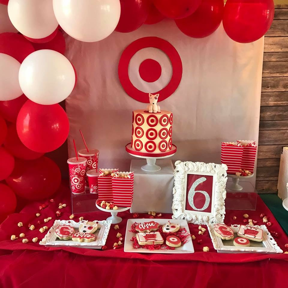 This Target,Themed Birthday Party For A 6,Year,Old Is
