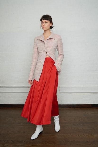 Shirred Waist Tea Skirt