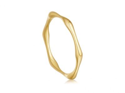 Gold Thin Molten Ring