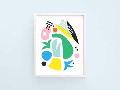 Graphic Abstract Art Print