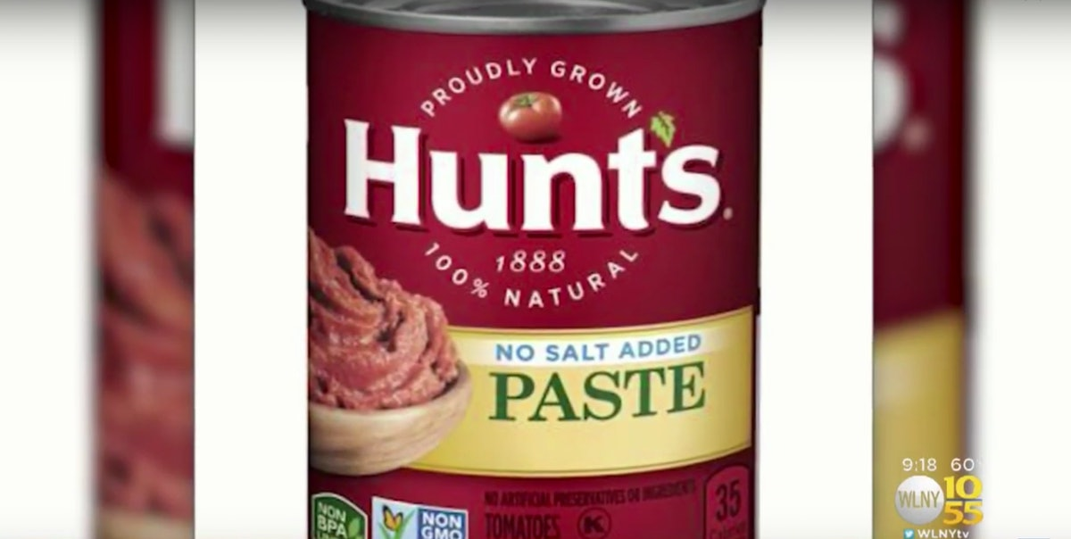 Conagra Recalls Hunts Tomato Paste Due To Potential Mold Contamination