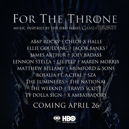 A 'Game Of Thrones'-Inspired Soundtrack Will Feature Original Songs