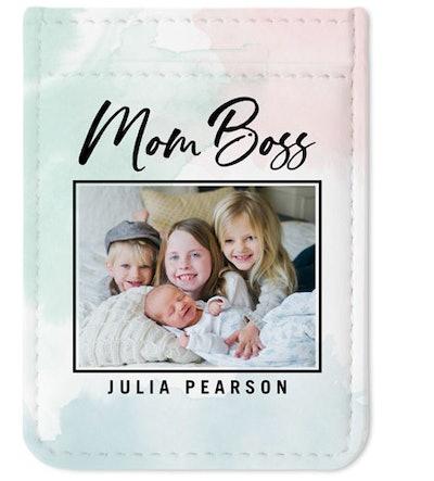 Marbled Mom Phone Card Holder