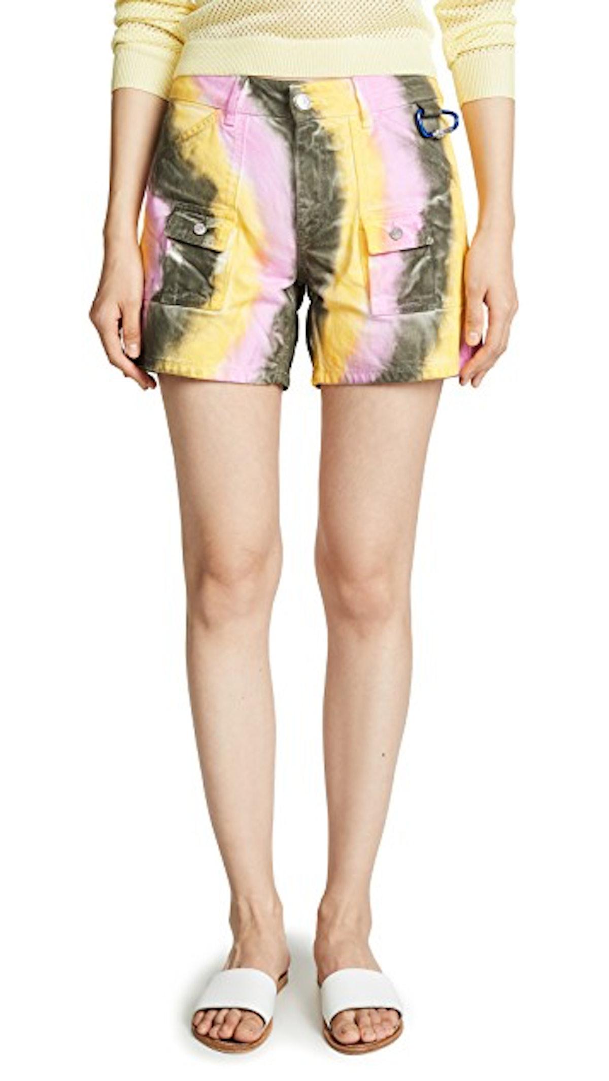 Color Washed Denim Shorts