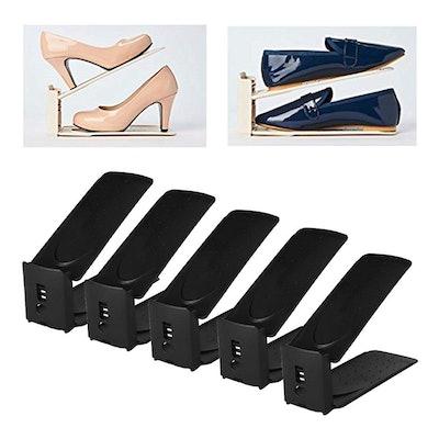 HARRA HOME Adjustable Shoe Slots (Set of 5)