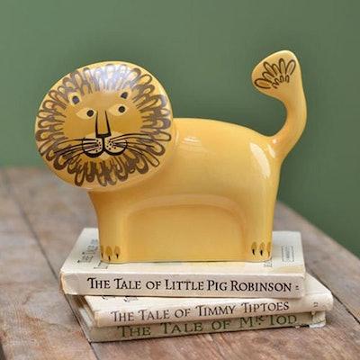 Handmade Ceramic Lion Money Box