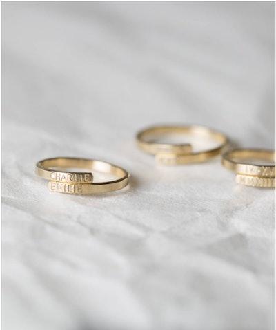 Hand-Stamped Hug Ring
