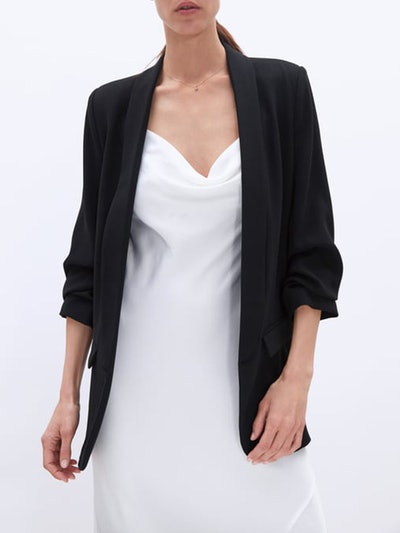 Blazer With Rolled Up Sleeves