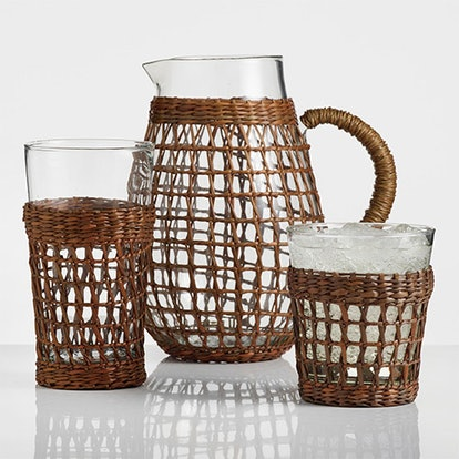 Acrylic Textured Barware