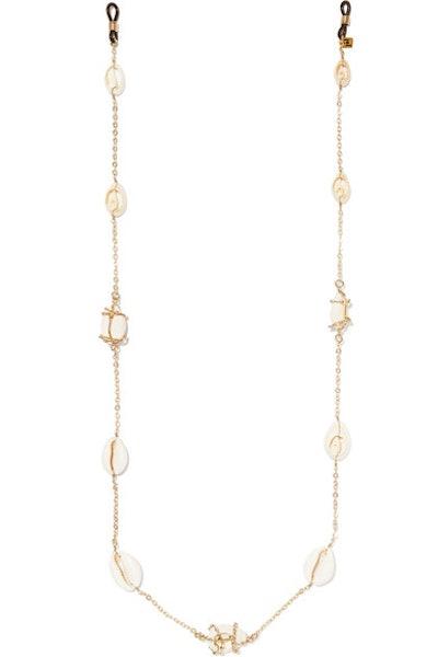 Beatrix Gold-Tone Shell Sunglasses Chain