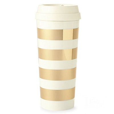 Gold Stripe Travel Mug