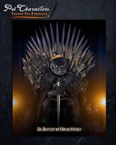 Game Of Thrones Custom pet Portrait