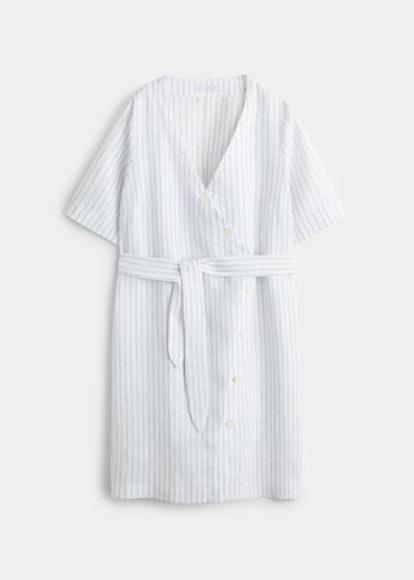 Linen Wrap Dress