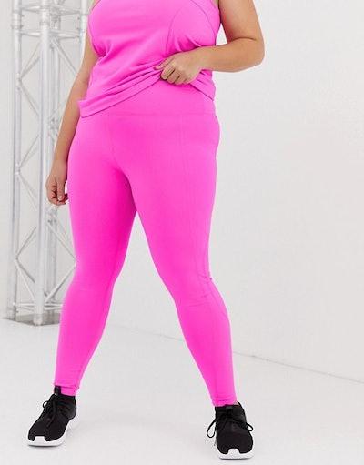 ASOS 4505 Curve Neon Pink Legging