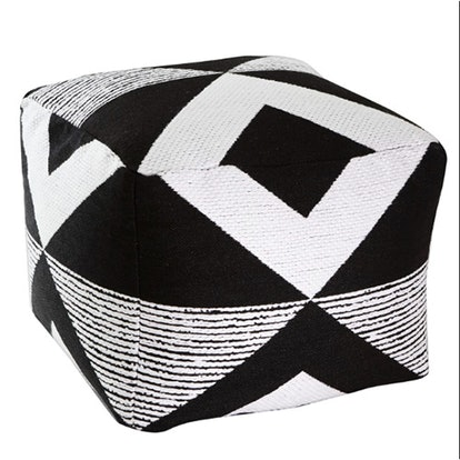 Geo Woven Outdoor Pouf