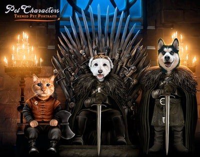 Game Of Thrones Multiple Pet Portrait