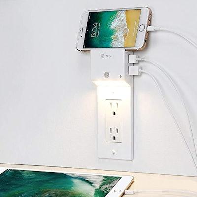 LITEdge USB Charging Wall Plate and Night Light