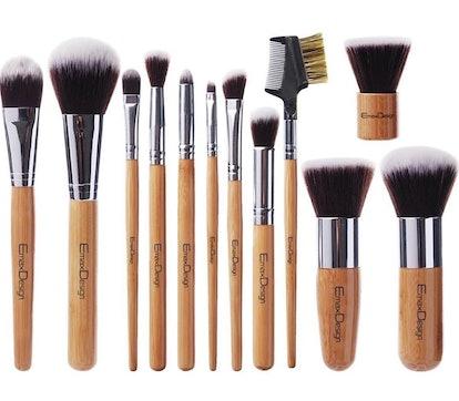 EmaxDesign Makeup Brush Set (12 Pieces)