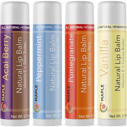Maple Holistics Therapeutic Lip Balm (4 Pack)