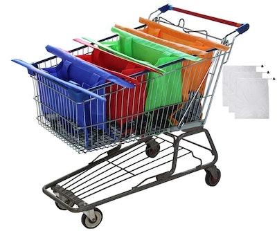 Modern Day Living Reusable Shopping Bags (4 Pack)