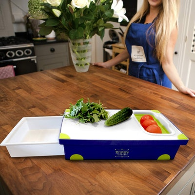 Kristie's Kitchen Cutting Board With Tray