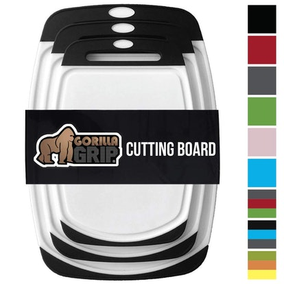 Gorilla Grip Three-Piece Original Reversible Cutting Board Set