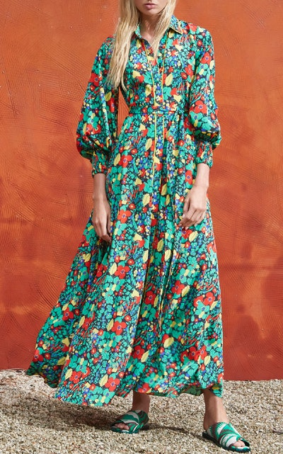 Hiroka Botanical Robe Dress