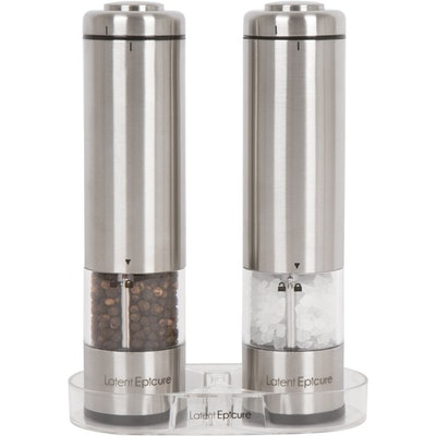 Latent Epicure Battery Operated Salt and Pepper Grinder Set