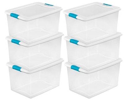 Sterilite Clear Storage Totes (6-Count)