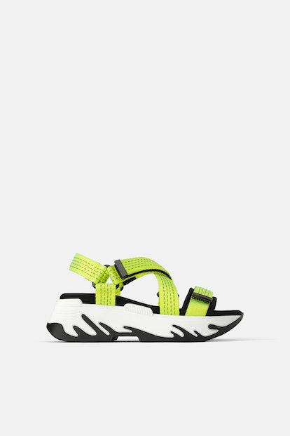 Athletic Platform Sandals