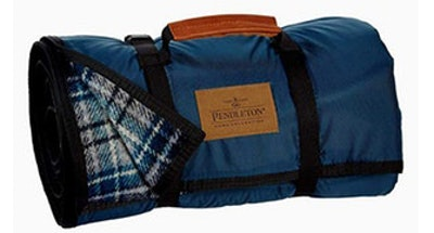 Pendleton Plaid Roll-Up Wool Camping Blanket