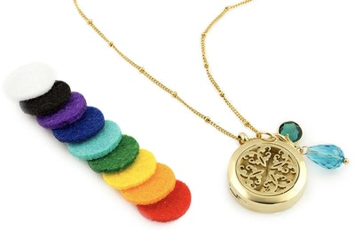 Gold Celtic Essential Oil Diffuser Necklace