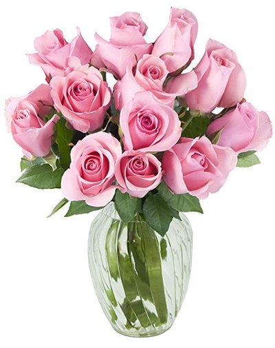 Bouquet of 12 Fresh Pink Roses