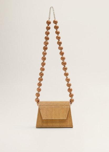 Beaded Wood handbag