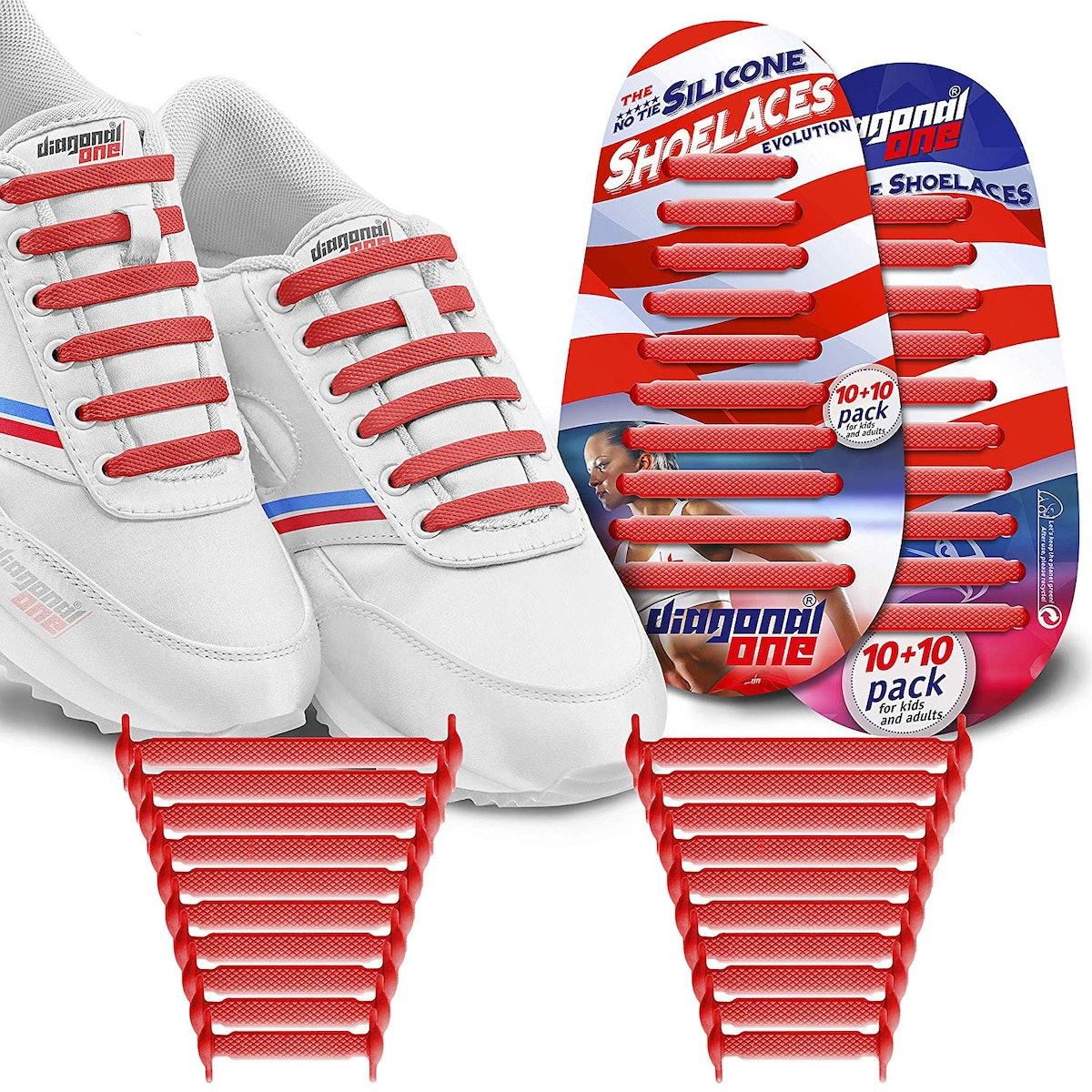 Diagonal One No-Tie Shoelaces