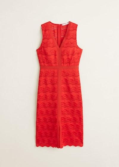 Openwork Detail Dress