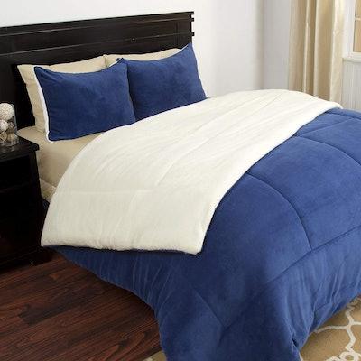 Lavish Home 3-Piece Sherpa Comforter Set